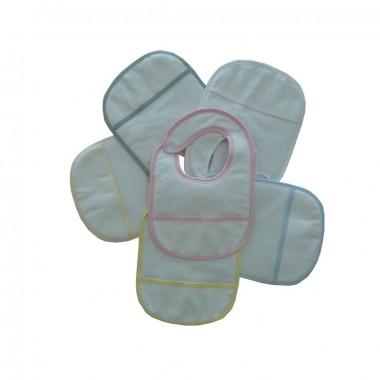 Babete Bordar «Apertar Velcro/Pack 6»